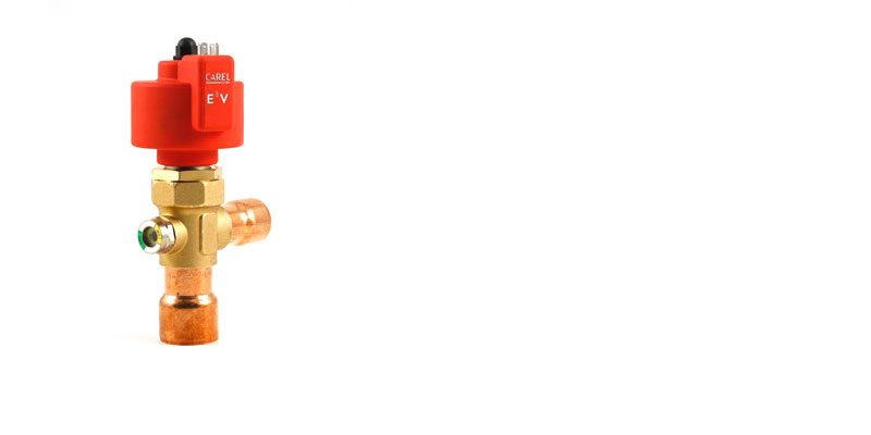 CAREL E3V electronic expansion valves cover a range of cooling capacities up to 180kW